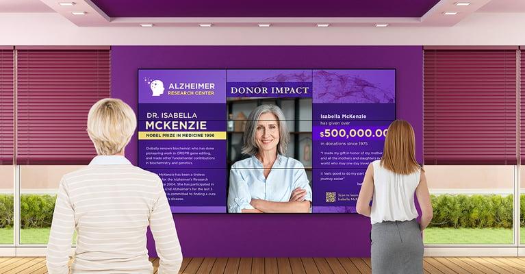 Donor Stewardship Plans with Digital Signage