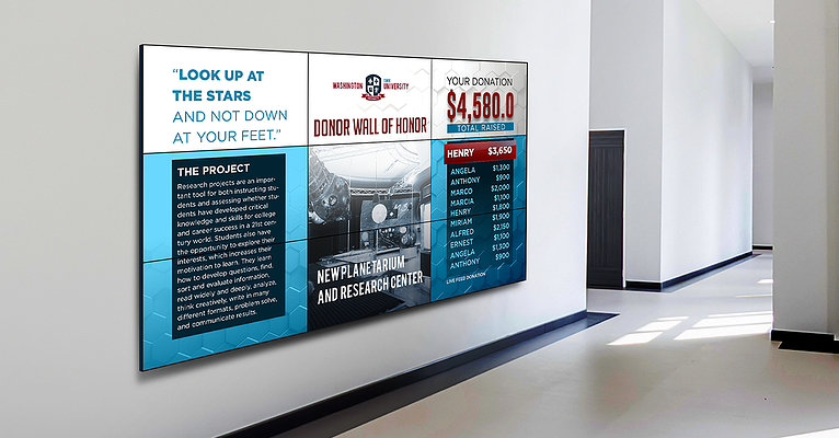 Impress School Donors with Digital Signage Donor Walls