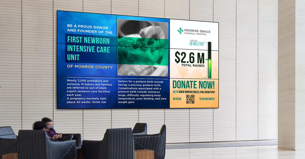 campaign stories digital signage fundraising