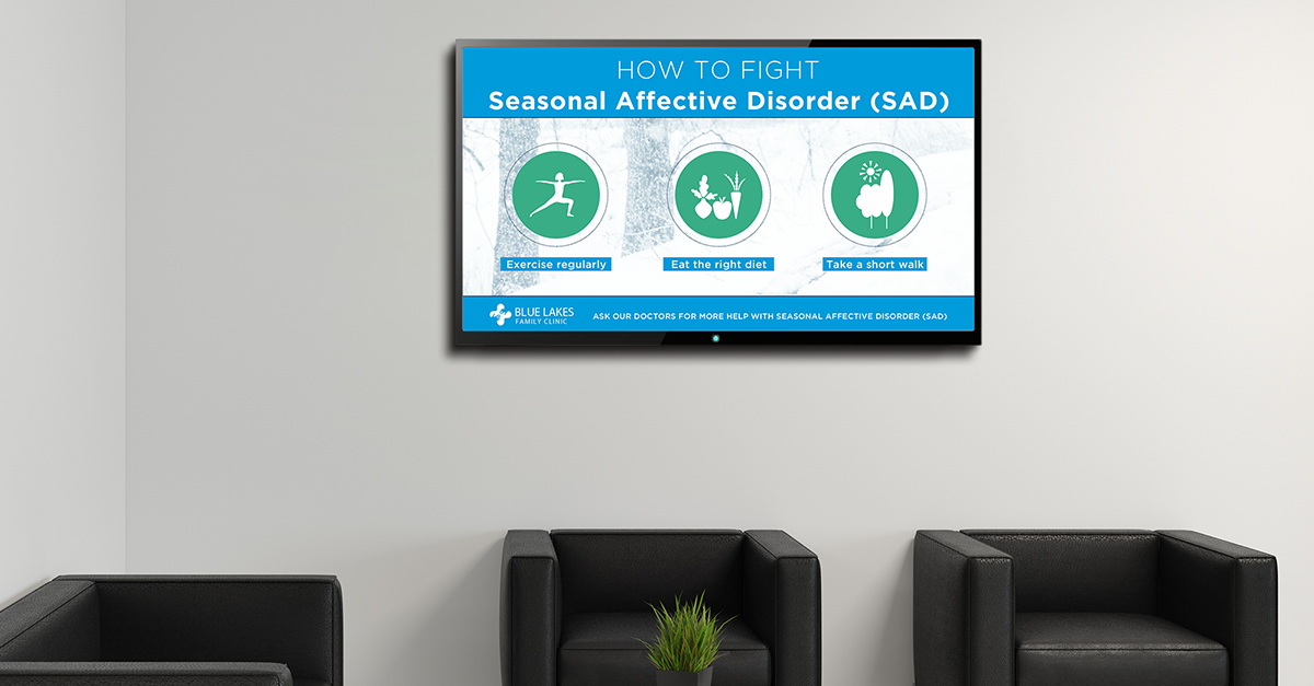 healthcare digital signage ideas