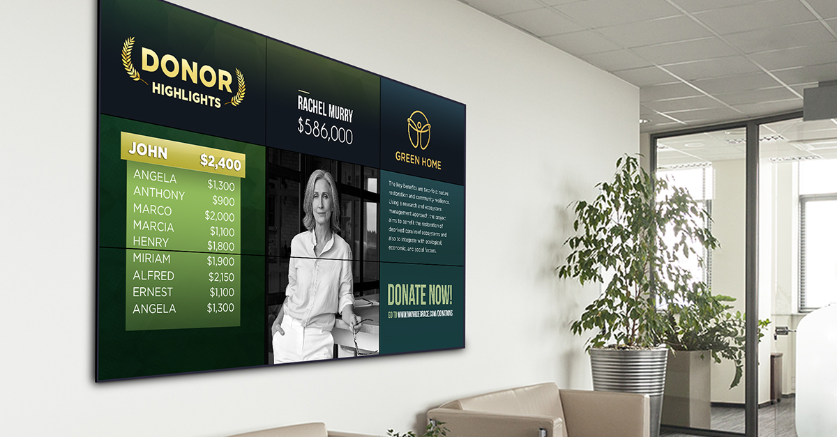 Effective Donor Recognition Programs with Digital Signage