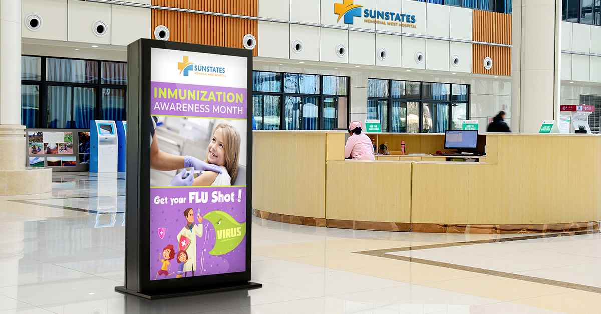 How to Use Digital Signage to Promote Awareness In Your Hospital