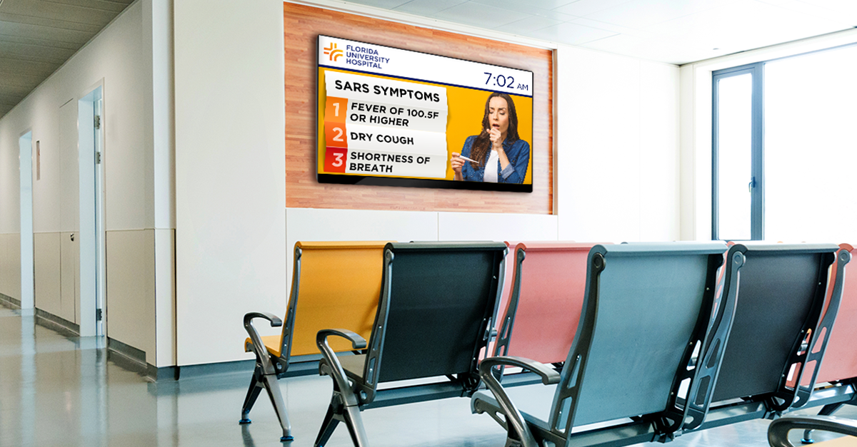 Using Digital Signage to Calm Patients Safely During a Crisis