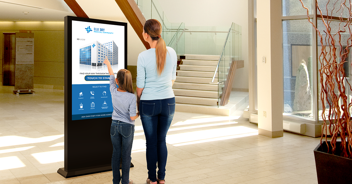 calming hospital environment with digital signage