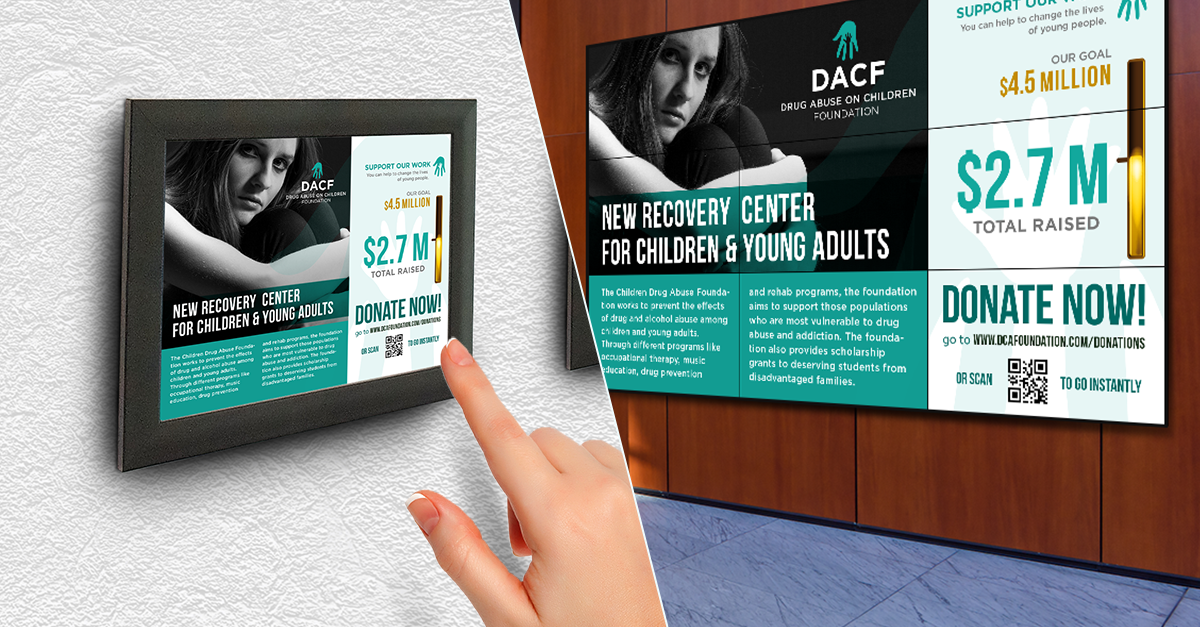 digital donor recognition walls vs digital picture plaques