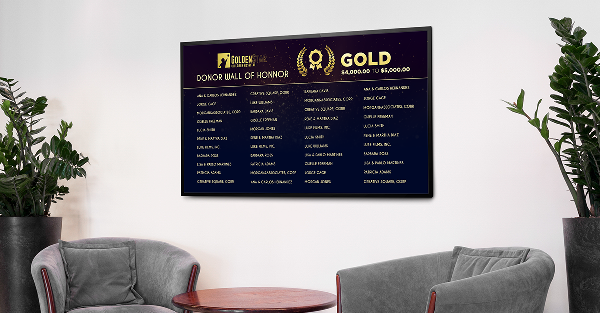 donor recognition board display
