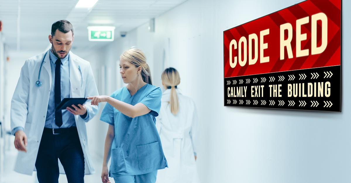 emergency messaging digital signage healthcare
