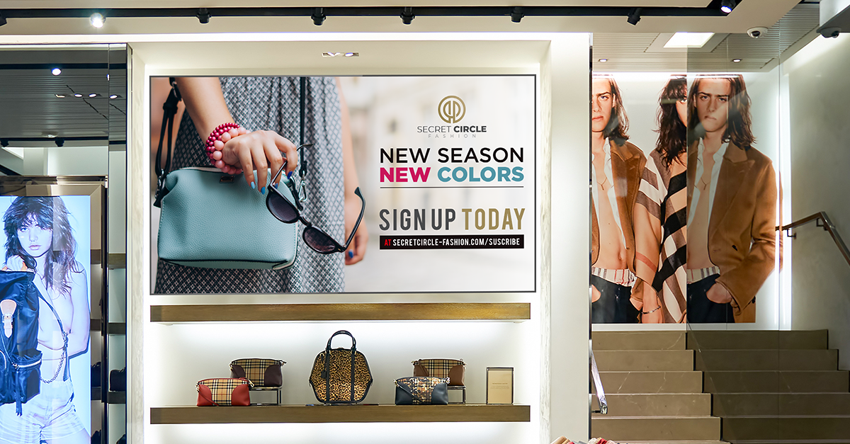 Improving Retail Dwell Time with Digital Signage
