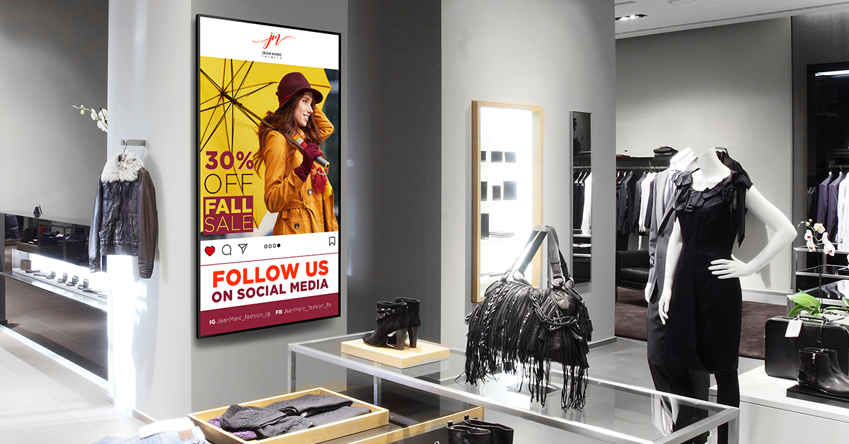 increase sales with digital signage