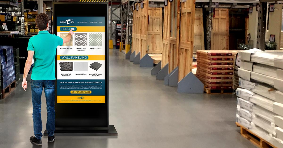 interactive digital signage retail