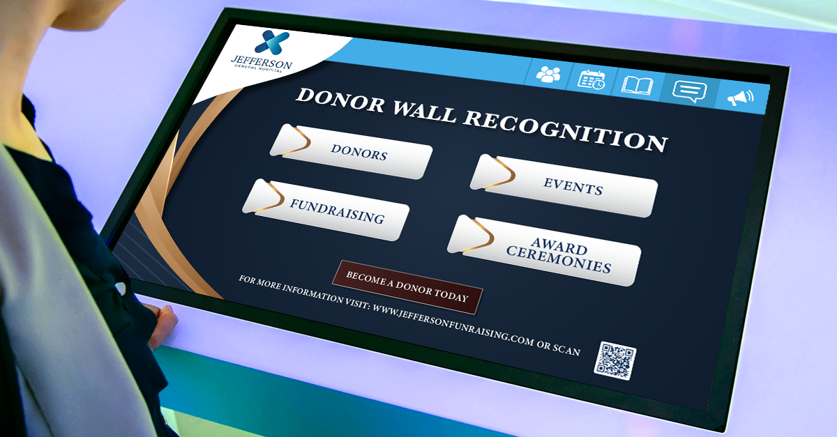interactive donor displays