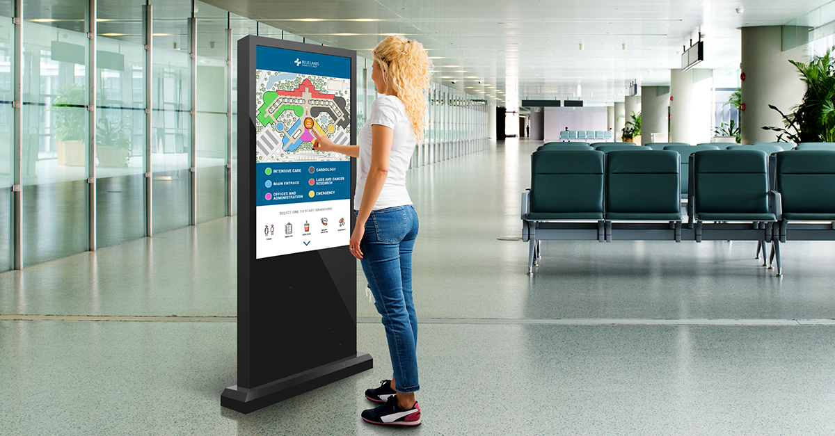 patient and visitor communication healthcare digital signage